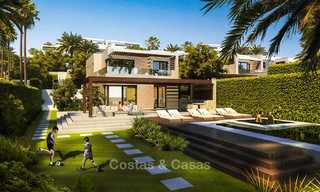 New luxury front line beach villas for sale in an exclusive complex, New Golden Mile, Marbella - Estepona 7899