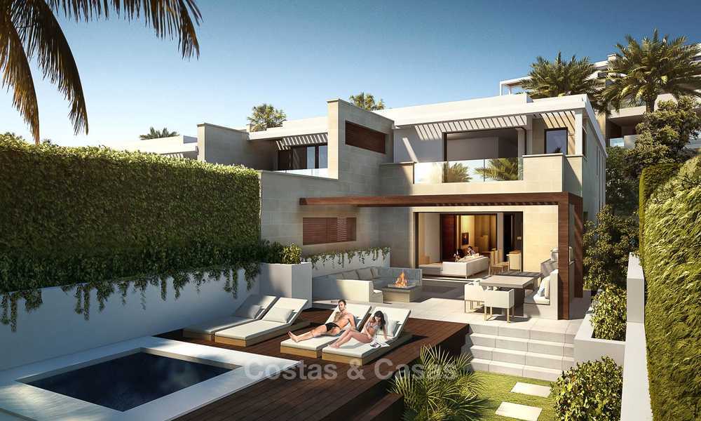 New luxury front line beach villas for sale in an exclusive complex, New Golden Mile, Marbella - Estepona 7900