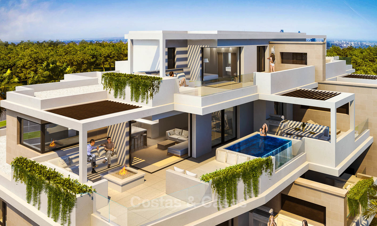 New luxury front line beach apartments for sale in an exclusive complex, New Golden Mile, Marbella - Estepona 7924