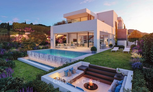 Beautiful, modern and luxurious first line golf villas with panoramic sea and mountain views for sale, Estepona 7926