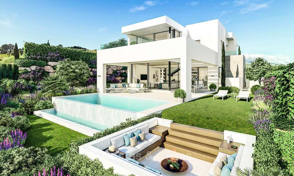 Beautiful, modern and luxurious first line golf villas with panoramic sea and mountain views for sale, Estepona 7927