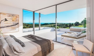 Beautiful, modern and luxurious first line golf villas with panoramic sea and mountain views for sale, Estepona 7930