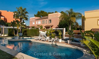 Semi detached house for sale, first line golf, in a gated complex in Guadalmina Alta in Marbella 7932
