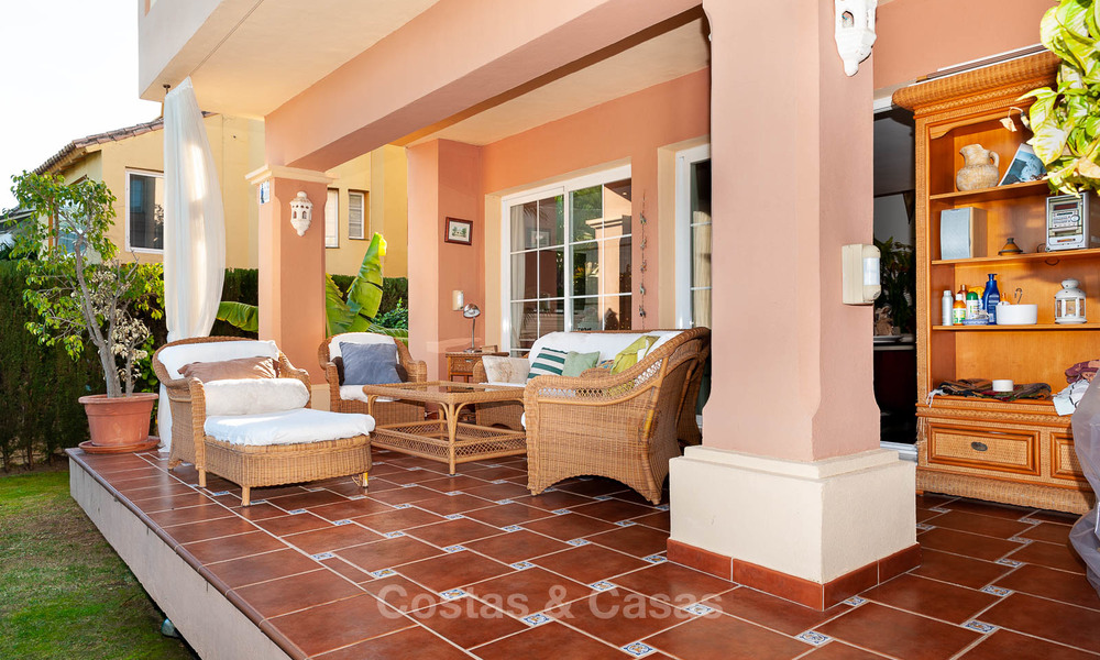 Semi detached house for sale, first line golf, in a gated complex in Guadalmina Alta in Marbella 7933