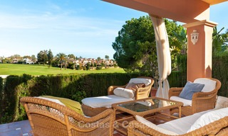 Semi detached house for sale, first line golf, in a gated complex in Guadalmina Alta in Marbella 7934