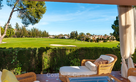 Semi detached house for sale, first line golf, in a gated complex in Guadalmina Alta in Marbella 7935