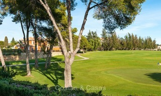 Semi detached house for sale, first line golf, in a gated complex in Guadalmina Alta in Marbella 7955
