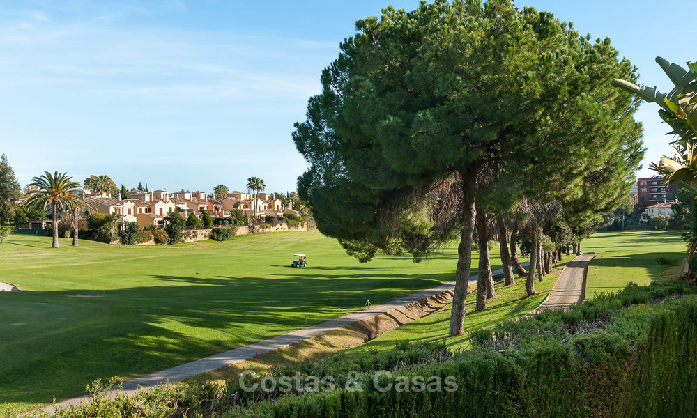 Semi detached house for sale, first line golf, in a gated complex in Guadalmina Alta in Marbella 7938