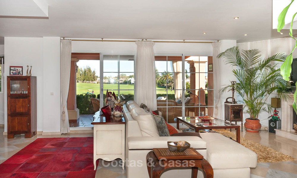 Semi detached house for sale, first line golf, in a gated complex in Guadalmina Alta in Marbella 7939