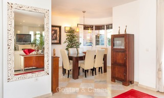Semi detached house for sale, first line golf, in a gated complex in Guadalmina Alta in Marbella 7940