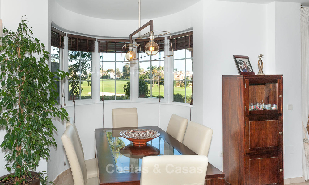 Semi detached house for sale, first line golf, in a gated complex in Guadalmina Alta in Marbella 7943