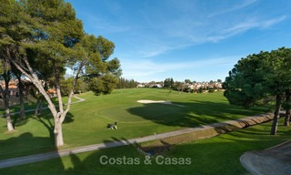 Semi detached house for sale, first line golf, in a gated complex in Guadalmina Alta in Marbella 7953