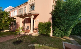 Semi detached house for sale, first line golf, in a gated complex in Guadalmina Alta in Marbella 7931