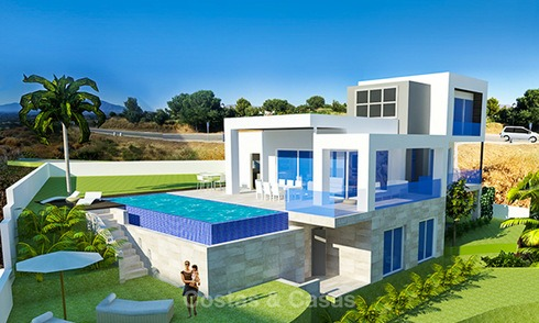 New contemporary and eco-friendly front line golf villas for sale, Mijas, Costa del Sol 8015