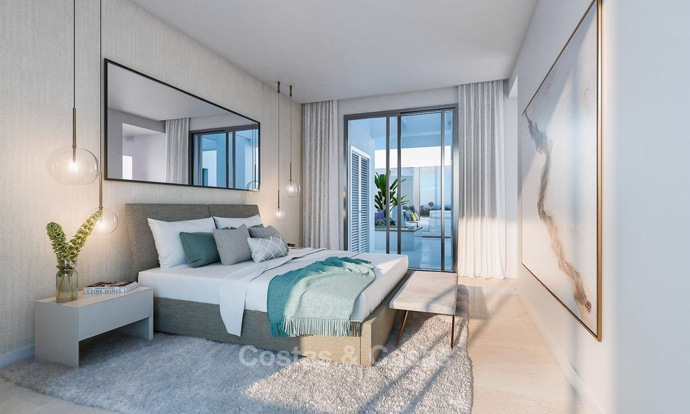 Attractive new modern apartments for sale, with sea views, next to a top-class 18-hole golf course, Estepona 8056