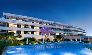 Attractive new modern apartments for sale, with sea views, next to a top-class 18-hole golf course, Estepona 8057