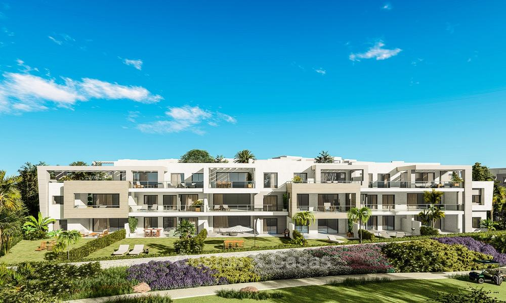 Delightful modern front-line golf apartments for sale in an exclusive new complex, Casares, Costa del Sol 8026