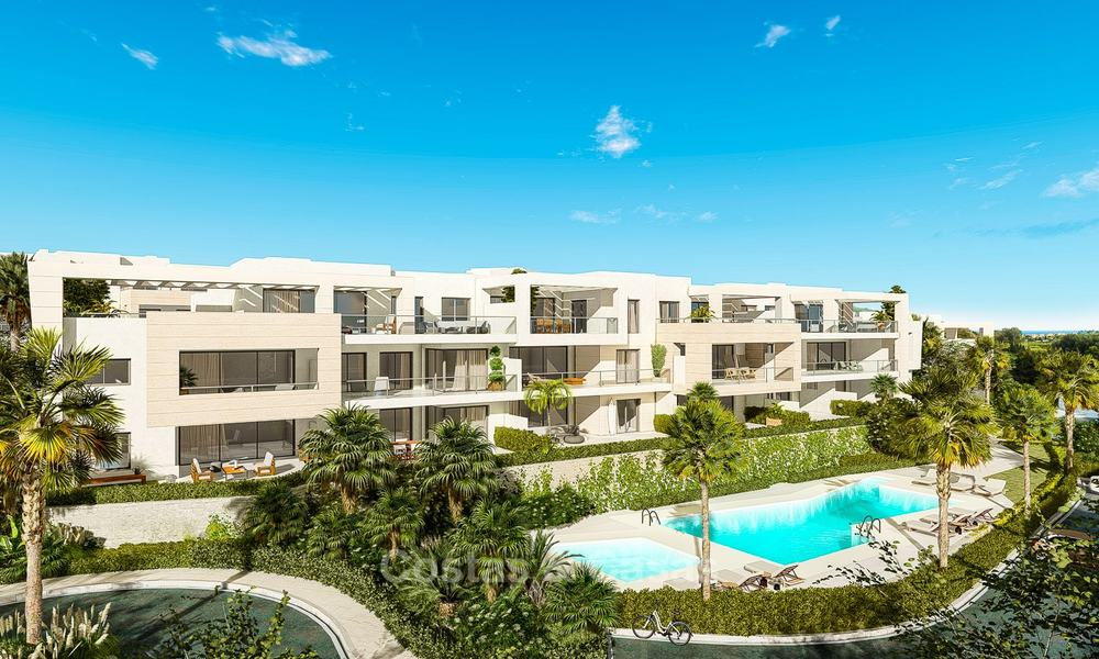 Delightful modern front-line golf apartments for sale in an exclusive new complex, Casares, Costa del Sol 8027