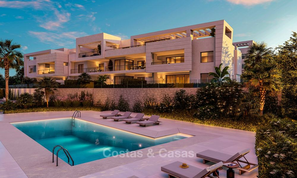 Delightful modern front-line golf apartments for sale in an exclusive new complex, Casares, Costa del Sol 8030