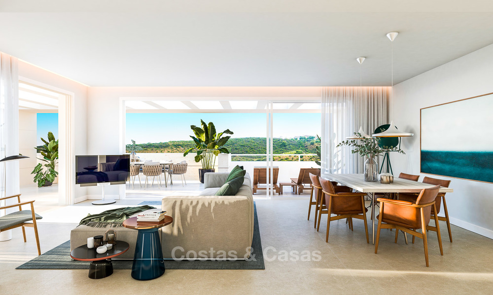Delightful modern front-line golf apartments for sale in an exclusive new complex, Casares, Costa del Sol 8031
