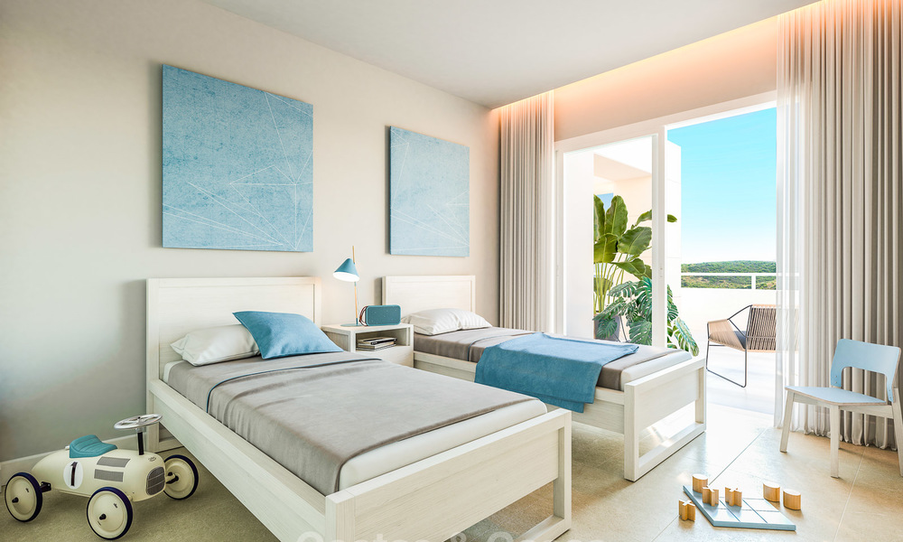 Delightful modern front-line golf apartments for sale in an exclusive new complex, Casares, Costa del Sol 8035