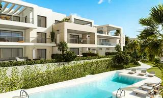 Delightful modern front-line golf apartments for sale in an exclusive new complex, Casares, Costa del Sol 8039