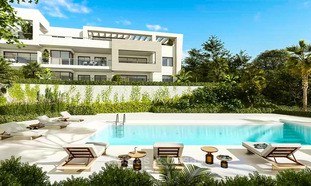 Delightful modern front-line golf apartments for sale in an exclusive new complex, Casares, Costa del Sol 8041