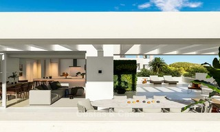 Delightful modern front-line golf apartments for sale in an exclusive new complex, Casares, Costa del Sol 8042