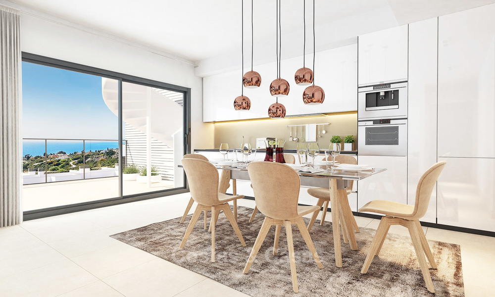 Chic new modern apartments with breath taking sea views for sale, Manilva, Costa del Sol 8135
