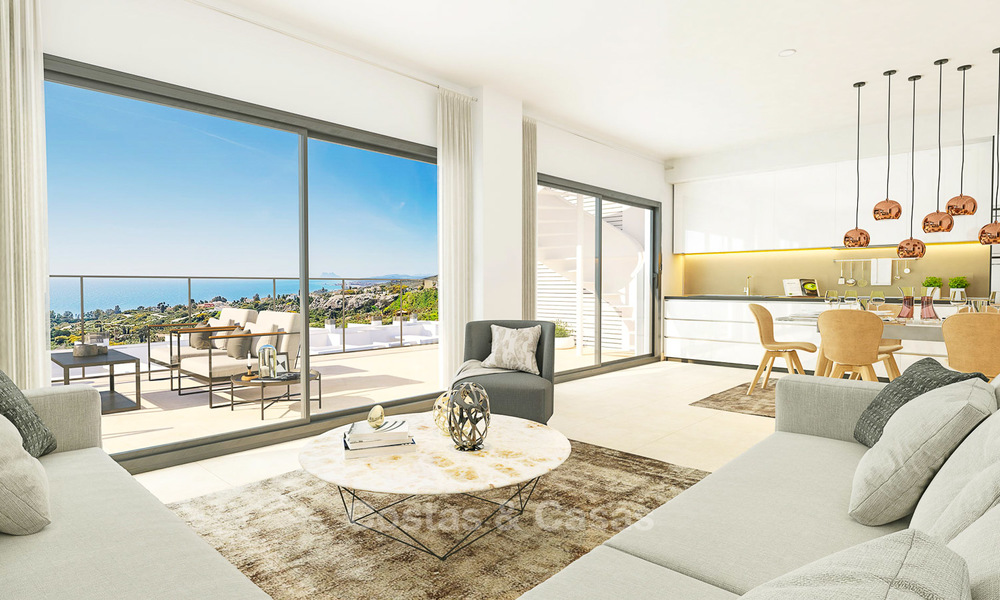 Chic new modern apartments with breath taking sea views for sale, Manilva, Costa del Sol 8138