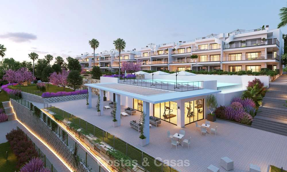 Chic new modern apartments with breath taking sea views for sale, Manilva, Costa del Sol 8141