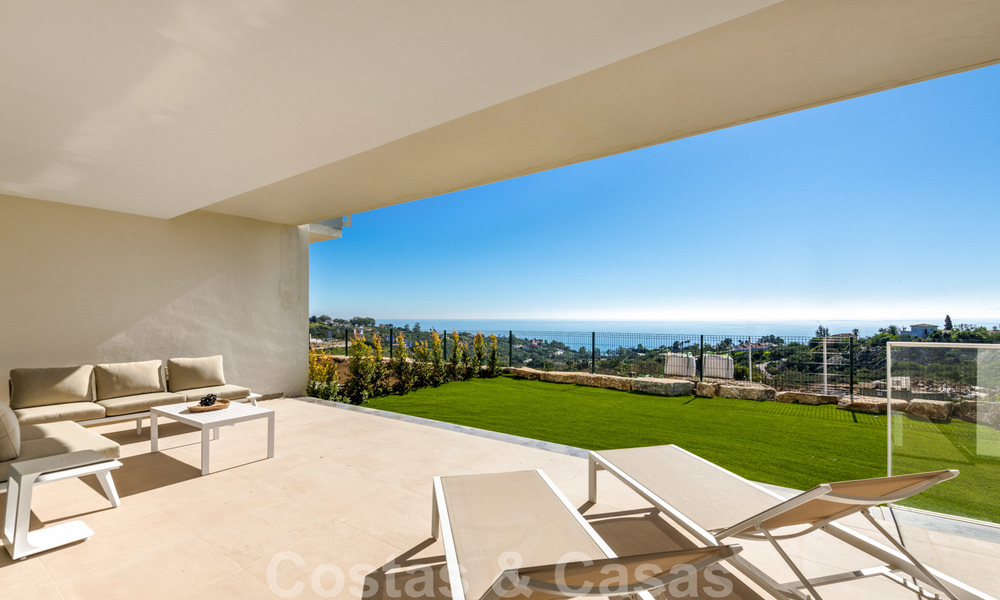 Chic new modern apartments with breath taking sea views for sale, Manilva, Costa del Sol 23760