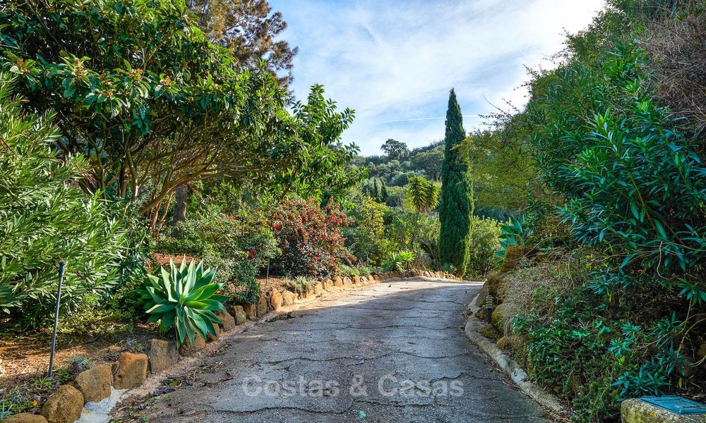 Spacious country-style villa in unique natural surroundings for sale, Casares, Costa del Sol 8115