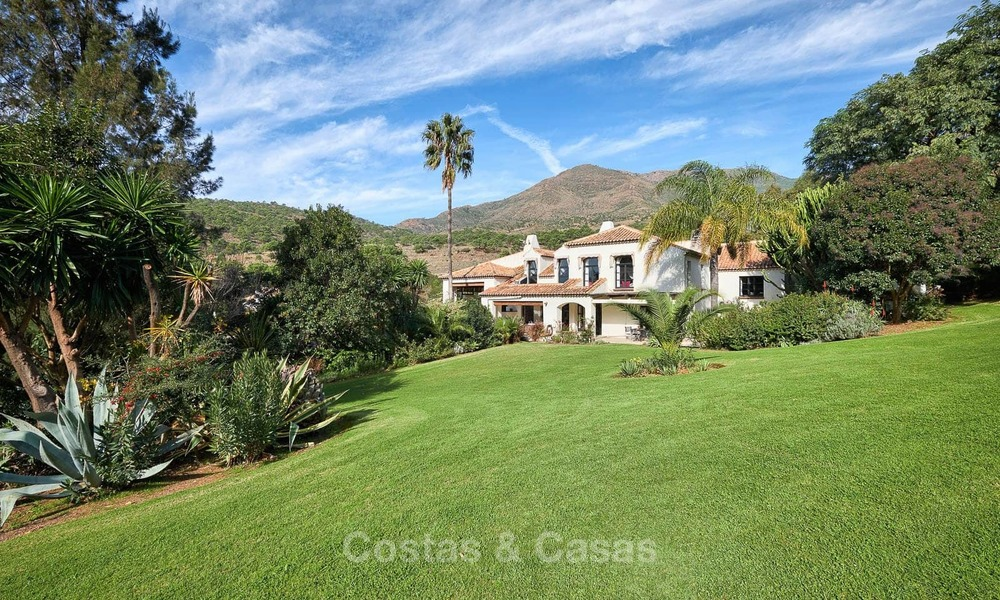 Spacious country-style villa in unique natural surroundings for sale, Casares, Costa del Sol 8123