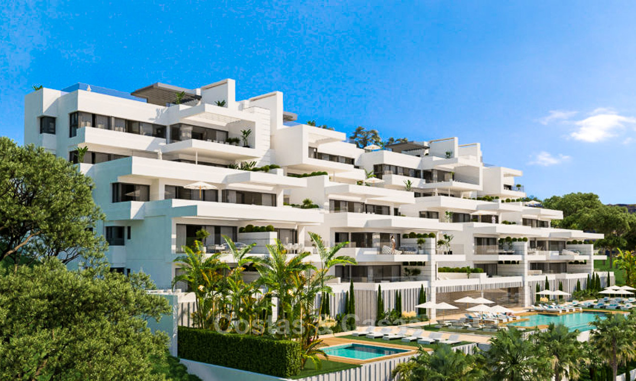 Elegant and spacious new apartments for sale, walking distance from beach and amenities, with sea views, Estepona 8065