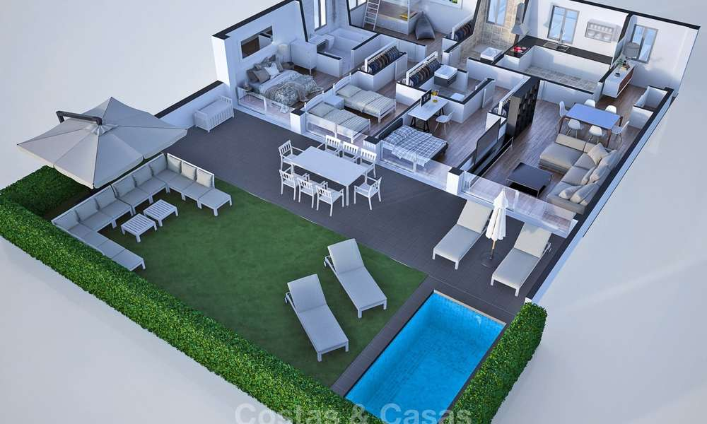 New, attractively priced, modern apartments for sale, walking distance to the beach and amenities, Estepona 8176