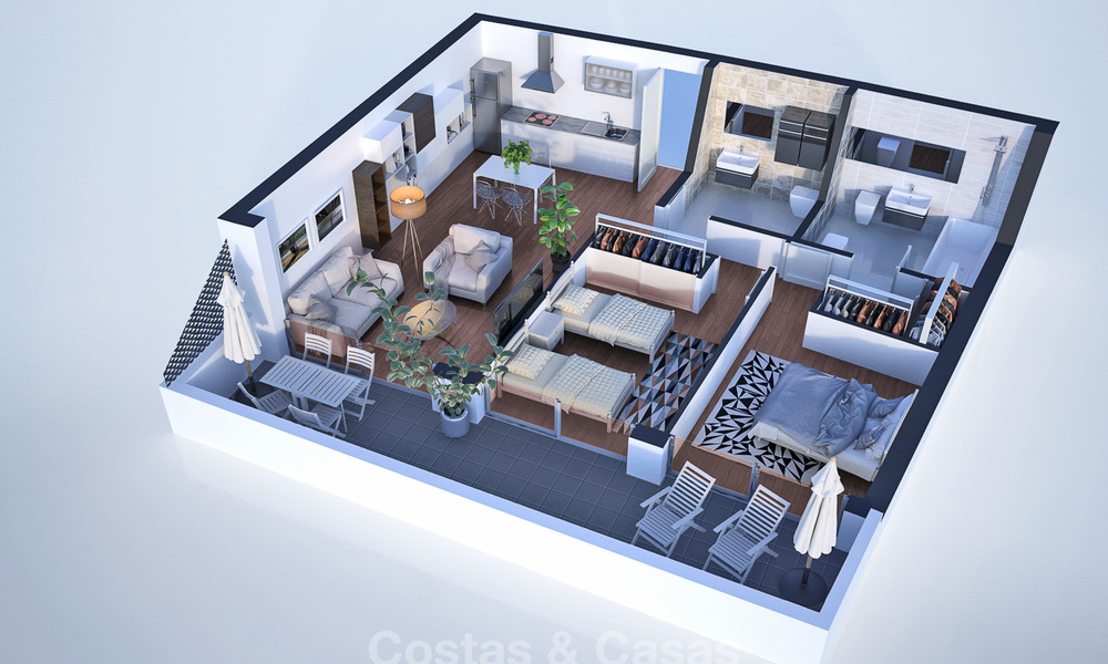 New, attractively priced, modern apartments for sale, walking distance to the beach and amenities, Estepona 8177