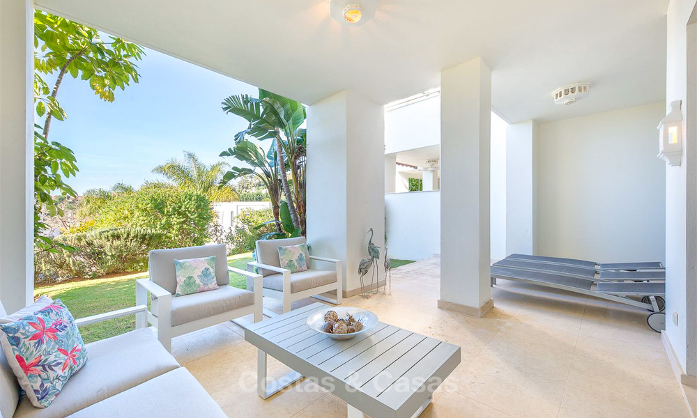 Beautiful luxury garden apartment in a sought-after residential complex for sale, ready to move in - Benahavis, Marbella 8336