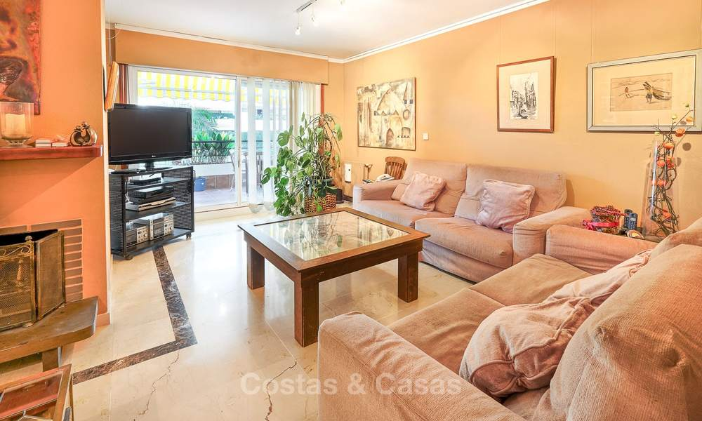 Very spacious front line golf apartment for sale, walking distance to amenities and San Pedro, Marbella 8427