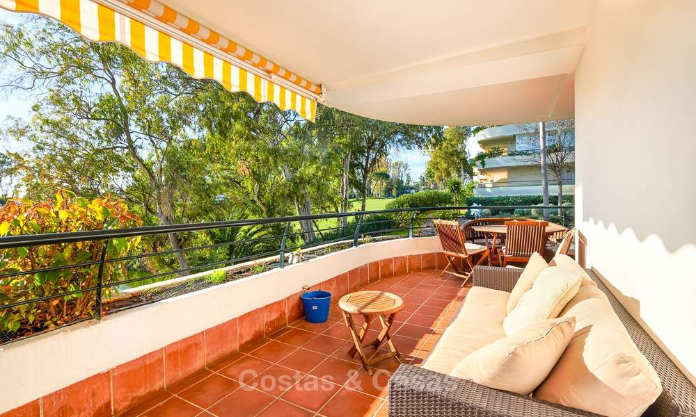 Very spacious front line golf apartment for sale, walking distance to amenities and San Pedro, Marbella 8437