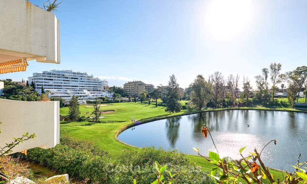 Very spacious front line golf apartment for sale, walking distance to amenities and San Pedro, Marbella 8443