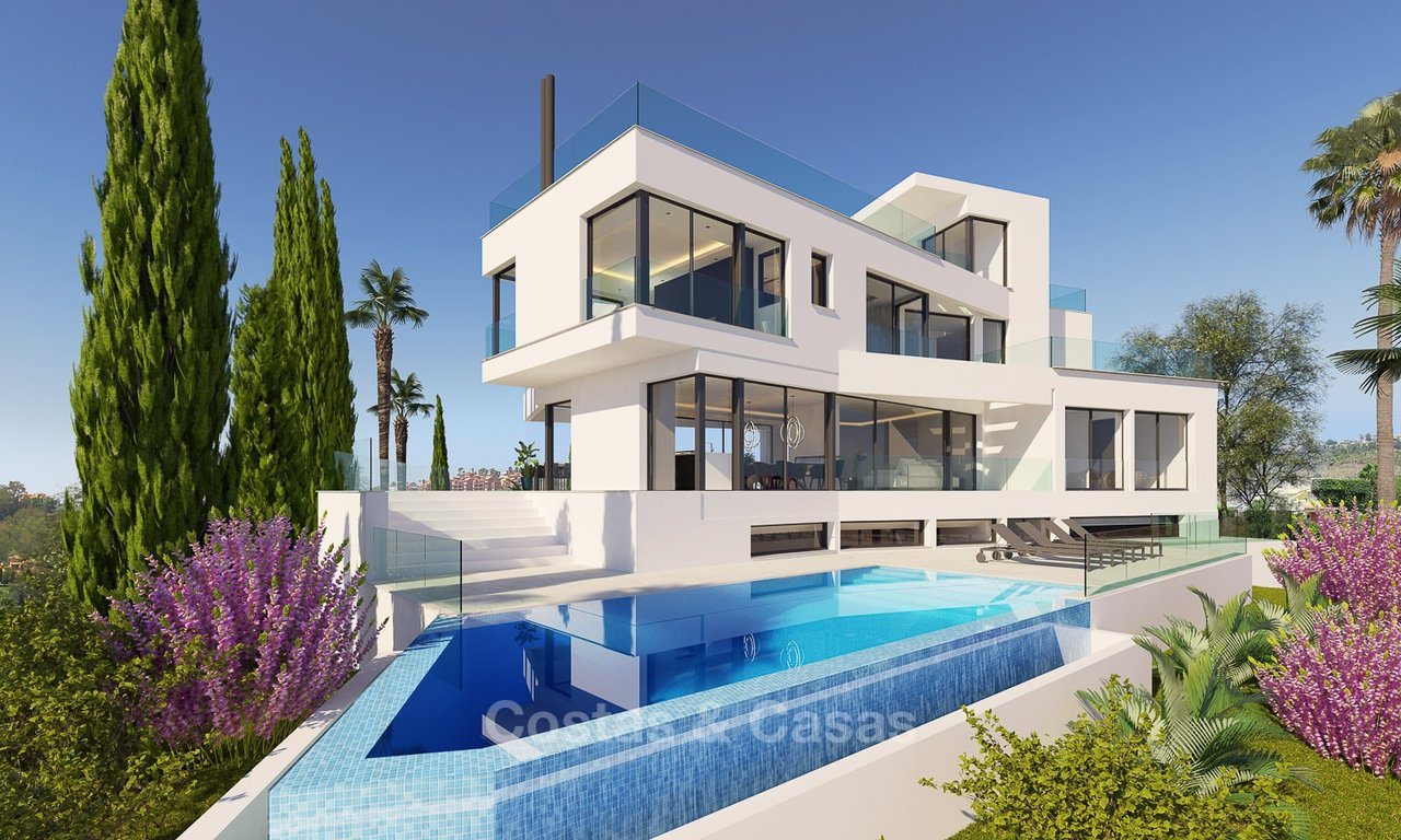 Ready to move in, exquisite contemporary luxury villa with magnificent views for sale, Marbella - Benhavis 8316