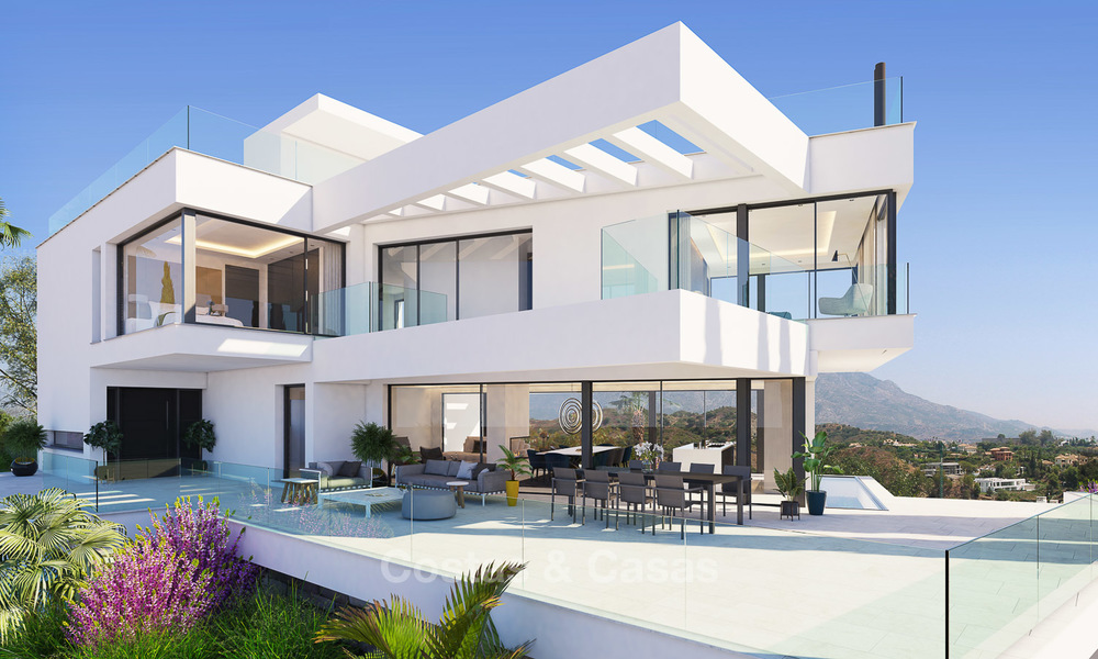 Ready to move in, exquisite contemporary luxury villa with magnificent views for sale, Marbella - Benahavis 8323