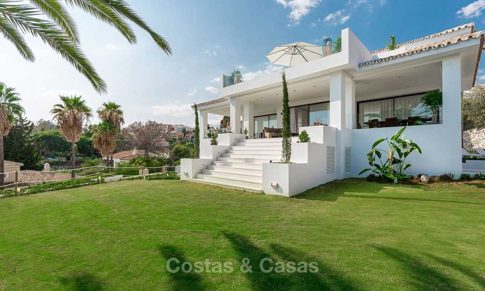 Ready to move in! Completely reformed Andalusian style villa for sale, Golf Valley, Nueva Andalucía, Marbella 8394