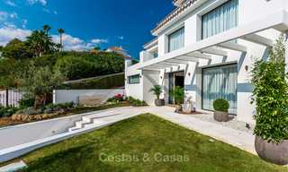 Ready to move in! Completely reformed Andalusian style villa for sale, Golf Valley, Nueva Andalucía, Marbella 8400