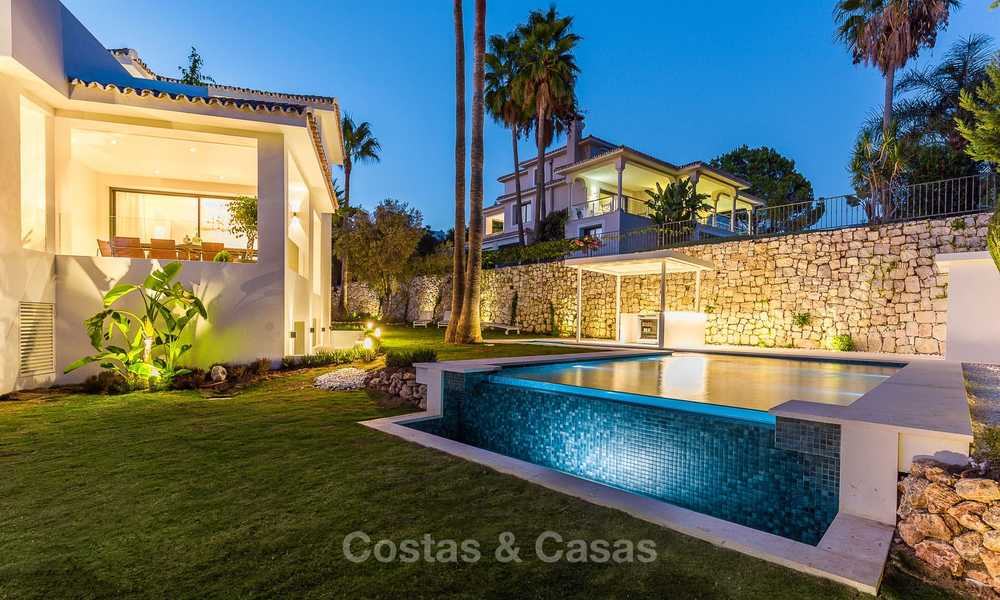 Ready to move in! Completely reformed Andalusian style villa for sale, Golf Valley, Nueva Andalucía, Marbella 8404