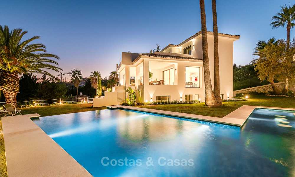 Ready to move in! Completely reformed Andalusian style villa for sale, Golf Valley, Nueva Andalucía, Marbella 8405