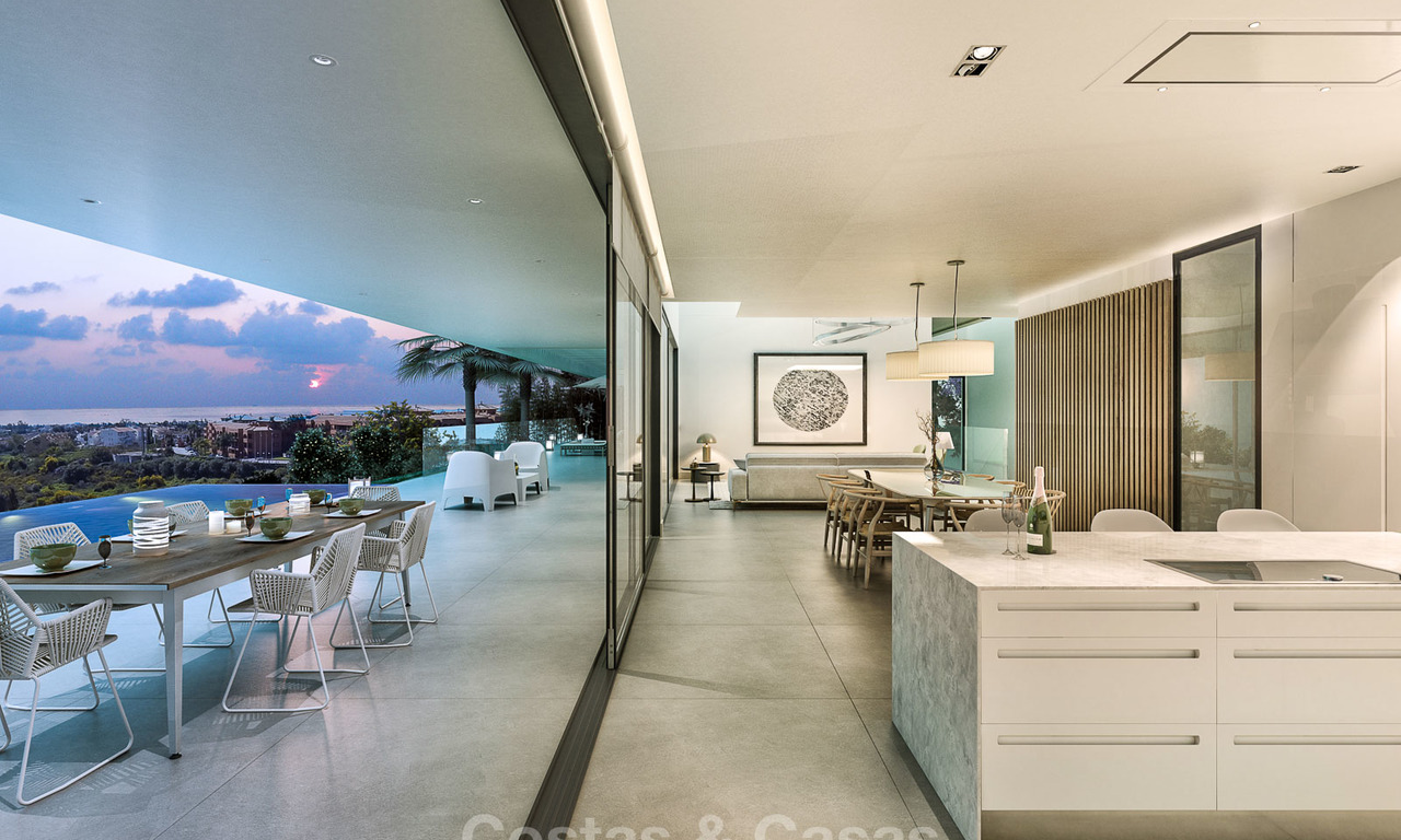 Eye catching luxurious designer villa with amazing sea views for sale, in golf resort, ready to move in - Benahavis, Marbella 8471