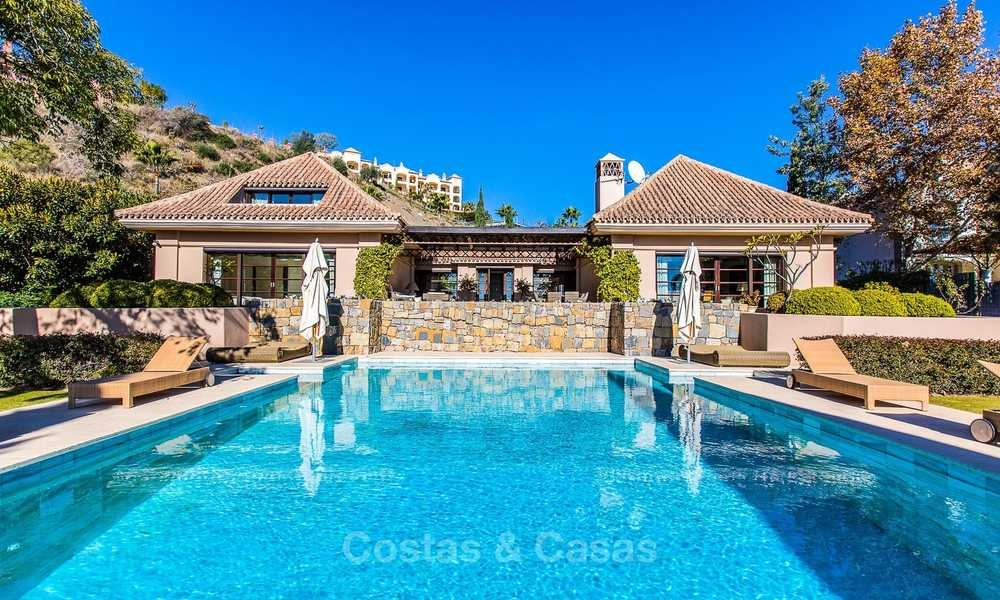 Sumptuous traditional-style luxury villa with magnificent sea views for sale, Benahavis, Marbella 8515