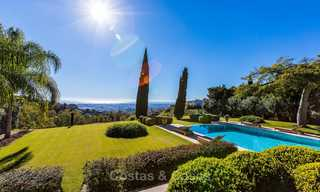 Sumptuous traditional-style luxury villa with magnificent sea views for sale, Benahavis, Marbella 8519